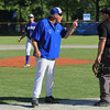 Lunenburg Baseball vs Bartlett on Monday afternoon. Lunenburg Head coach Bob Robuccio was not happy with a call late in the game and made sure the umpire knew it. SENTINEL & ENTERPRISE/JOHN LOVE