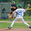 Lunenburg's Cam MacKenzie takes the mound against Leominster National in the 11-year-old Jimmy Fund game in the Willie Sinclair division on Saturday afternoon. SENTINEL & ENTERPRISE / Ashley Green