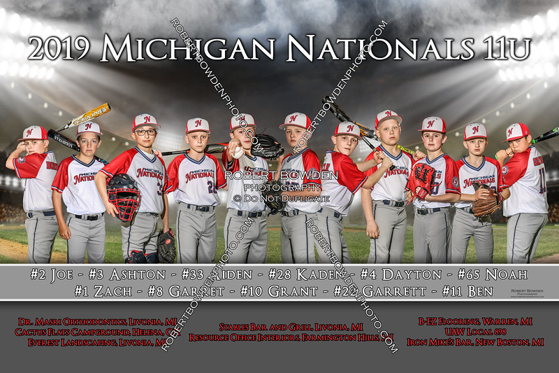 2019 Michigan Nationals 11U 4x6 Banner