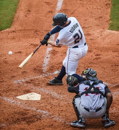 Naturals vs Travelers Double Header at Arvest Ballpark in Springdale, Arkansas, on Tuesday, June 16, 2015.  The Naturals won the first game 5-1.  The Travelers won the second game 8-1.  Photos by Alan Jamison.