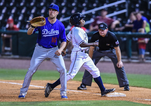 NWA Naturals vs Tulsa Drillers at Arvest Ballpark in Springdale, Arkansas, on Thursday, June 25, 2015.  The Drillers won 3-2.  Photos by Alan Jamison.