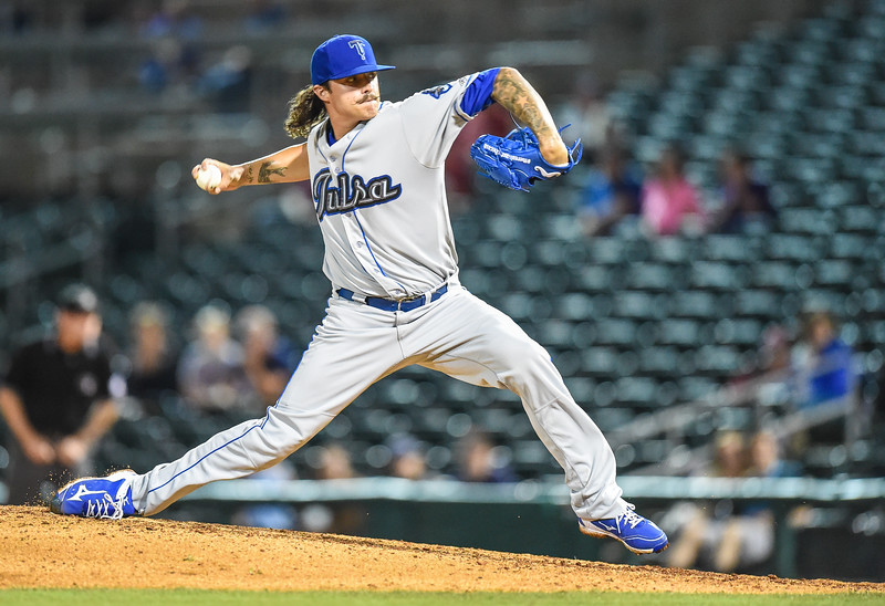 Tulsa Drillers closer Ralston Cash (30) pitches in a ballgame between the NWA Naturals and the Tulsa Drillers at Arvest Ballpark in Springdale, Arkansas, on Friday, June 26, 2015.  The Drillers won 5-1.  Photos by Alan Jamison.