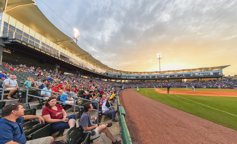 Doubleheader between the NWA Naturals and the Frisco Rough Riders at Arvest Ballpark in Springdale, Arkansas, on Friday, July 10, 2015.  The Rogh Riders won both games (6-2 and 5-0).  Photos by Alan Jamison.