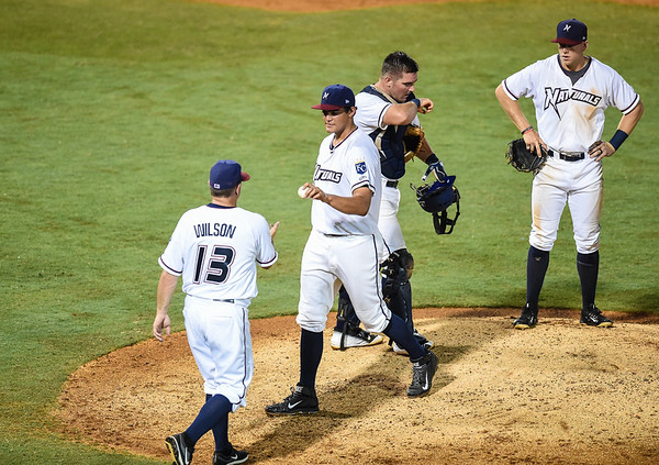 Baseball game between the NWA Naturals and the Tulsa Drillers at Arvest Ballpark in Springdale, Arkansas, on Monday, July 20, 2015.  Photos by Alan Jamison.
