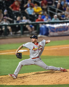 Cardinals pitcher Ryan Sherriff (37) pitches during a baseball game between the NWA Naturals and the Springfield Cardinals at Arvest Ballpark in Springdale, Arkansas, on Thursday, July 30, 2015.  The Cardinals won 6-3.  Photos by Alan Jamison.