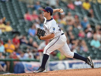 Starting Naturals pitcher Matt Murray (57) pitches during a baseball game between the NWA Naturals and the Springfield Cardinals at Arvest Ballpark in Springdale, Arkansas, on Thursday, July 30, 2015.  The Cardinals won 6-3.  Photos by Alan Jamison.