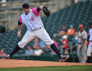 during a baseball game between the NWA Naturals and the Springfield Cardinals at Arvest Ballpark in Springdale, Arkansas, on Friday, July 31, 2015.  The Cardinals won 11-1 in front of a crowd of 5,889.  Photos by Alan Jamison.