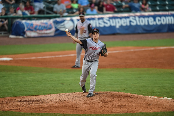 during a baseball game between the NWA Naturals and the Arkansas Travelers at Arvest Ballpark in Springdale, Arkansas, on Monday, August 3, 2015.  The Travelers won 4-2 in front of a crowd of 3,041.   Photos by Alan Jamison.