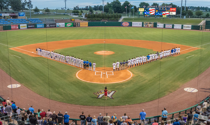 baseball game between the NWA Naturals and the Midland Rockhounds at Arvest Ballpark in Springdale, Arkansas.  Midland won 7-0 and took the 2015 Texas League Championship.  (Alan Jamison)