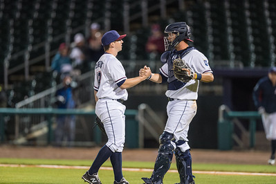 Baseball game between NWA Naturals and Midland RockHounds on 4/11/2016.  Photographer:  Alan Jamison.