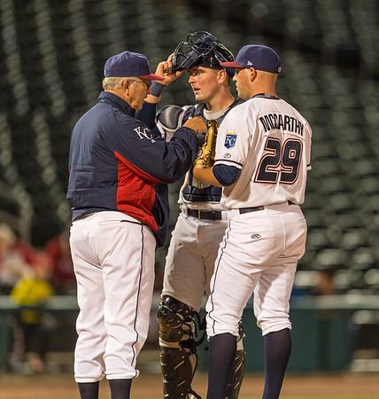 Baseball game between NWA Naturals and Midland RockHounds on 4/12/2016.  Photographer:  Alan Jamison.