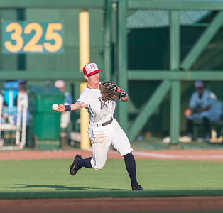 During a baseball game between the NWA Naturals and the Frisco RoughRiders on July 4, 2016.  (Alan Jamison, NWA Naturals)