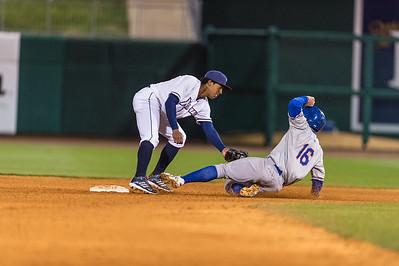 Baseball game between NWA Naturals and Midland RockHounds on 4/11/2016.  Photographer:  Alan Jamison.