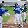 Lunenburg's Chris Vacarelo scores a run during the game against Oakmont on Friday afternoon. SENTINEL & ENTERPRISE / Ashley Green
