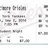 Orioles Ticket 2