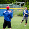 Marc Poirier warms up during the Lunenburg Phillies practice on Tuesday afternoon. SENTINEL & ENTERPRISE / Ashley Green