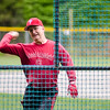 Manager Joe Ruth throws batting practice during the Lunenburg Phillies practice on Tuesday afternoon. SENTINEL & ENTERPRISE / Ashley Green
