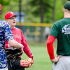 Manager Joe Ruth chats with the team during the Lunenburg Phillies practice on Tuesday afternoon. SENTINEL & ENTERPRISE / Ashley Green