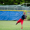 Matt Russell warms up during the Lunenburg Phillies practice on Tuesday afternoon. SENTINEL & ENTERPRISE / Ashley Green