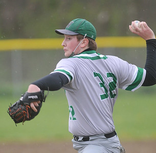 Naples pitcher #32 delivers a pitch in the second inning. Photo by Jack Haley for Daily Messenger.