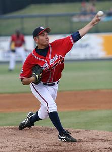 Rome Braves pitcher Edgar Osuna. RA
