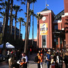 Giants vs. Padres, April 19, 2013.  Long security lines, day after Boston Marathon bombings.