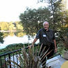 Steve Palmer 74 on patio overlooking the American River
