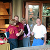 Coach Andy Braio and wife Linda arrive with Coach Greg Roeszler 74 (Coach Roz) and wife Linda Freeman