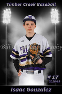 Isaac Gonzalez Baseball 18-19 flat