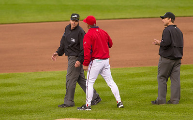 arguing a balk call that was reversed