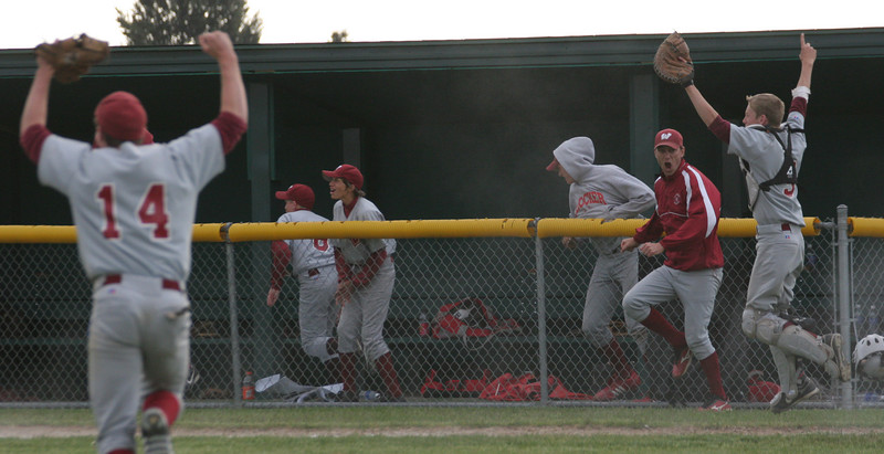 After the final out!