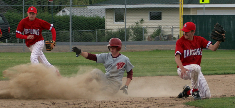 Rob Fila - Left Field/Relief Pitcher.  Stealing second base.