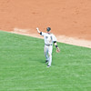 3rd basemen Gordon Beckham tosses the ball around before the start of an inning