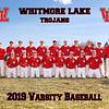 2019 Whitmore Lake Baseball Team 8x10