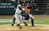 Oct 27, 2012; Detroit, MI, USA; San Francisco Giants shortstop Brandon Crawford hits a RBI single against the Detroit Tigers in the second inning during game three of the 2012 World Series at Comerica Park.  Mandatory Credit: Tim Fuller-USA TODAY Sports
