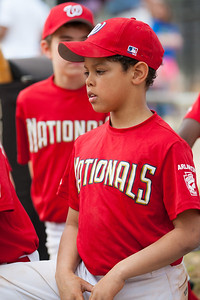 Isaiah post game. The Nationals started out their season with a 4-1 win over the Pirates. 2012 Arlington Little League Baseball, Majors Division. Nationals vs Pirates (14 Apr 2012) (Image taken by Patrick R. Kane on 14 Apr 2012 with Canon EOS-1D Mark III at ISO 400, f2.8, 1/1000 sec and 135mm)