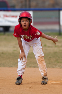 Isaiah steals 2nd base in the top of the 5th inning. The Nationals started out their season with a 4-1 win over the Pirates. 2012 Arlington Little League Baseball, Majors Division. Nationals vs Pirates (14 Apr 2012) (Image taken by Patrick R. Kane on 14 Apr 2012 with Canon EOS-1D Mark III at ISO 200, f2.8, 1/2500 sec and 200mm)