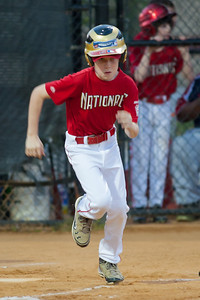 Toby hits a single in the bottom of the 1st inning. The Nationals won their second game in a row to start the season with an 11-0 victory over the Twins. 2012 Arlington Little League Baseball, Majors Division. Nationals vs Twins (19 Apr 2012) (Image taken by Patrick R. Kane on 19 Apr 2012 with Canon EOS-1D Mark III at ISO 1600, f2.8, 1/250 sec and 300mm)