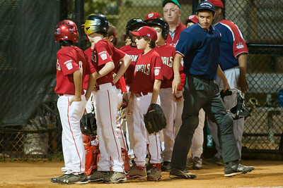 The Nationals won their second game in a row to start the season with an 11-0 victory over the Twins. 2012 Arlington Little League Baseball, Majors Division. Nationals vs Twins (19 Apr 2012) (Image taken by Patrick R. Kane on 19 Apr 2012 with Canon EOS-1D Mark III at ISO 3200, f2.8, 1/250 sec and 300mm)