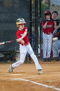 Toby hits a single past the short stop in the bottom of the 1st inning. The Nationals won their second game in a row to start the season with an 11-0 victory over the Twins. 2012 Arlington Little League Baseball, Majors Division. Nationals vs Twins (19 Apr 2012) (Image taken by Patrick R. Kane on 19 Apr 2012 with Canon EOS-1D Mark III at ISO 1600, f2.8, 1/200 sec and 300mm)
