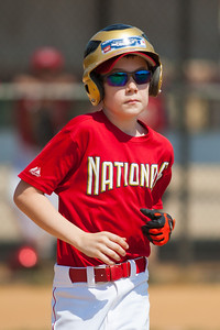 Toby earns a walk in the bottom of the 2nd inning. The Nationals played a close and exciting game against the Cubs before being outscored in the 6th inning, losing 8-9. They are now 2-1 for the season. 2012 Arlington Little League Baseball, Majors Division. Nationals vs Cubs (21 Apr 2012) (Image taken by Patrick R. Kane on 21 Apr 2012 with Canon EOS-1D Mark III at ISO 200, f2.8, 1/4000 sec and 300mm)