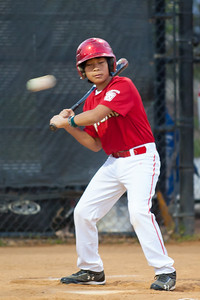 Alex at bat in the bottom of the 1st inning. He'll go down swinging. The Nationals won their second game in a row to start the season with an 11-0 victory over the Twins. 2012 Arlington Little League Baseball, Majors Division. Nationals vs Twins (19 Apr 2012) (Image taken by Patrick R. Kane on 19 Apr 2012 with Canon EOS-1D Mark III at ISO 1600, f2.8, 1/160 sec and 300mm)