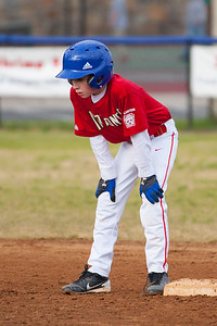 Sam steals 2nd base on a passed ball in the top of the 2nd inning. The Nationals almost blew a big lead, but managed to hold off the Brewers to win 9-7. They are now 3-2 for the season. 2012 Arlington Little League Baseball, Majors Division. Nationals vs Brewers (26 Apr 2012) (Image taken by Patrick R. Kane on 26 Apr 2012 with Canon EOS-1D Mark III at ISO 800, f2.8, 1/6400 sec and 200mm)
