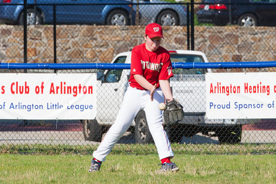 Aidan warming up before the game. The Nationals played a close game against the Orioles before pulling away in the top of the 6th inning for a 5-2 win. They finished the regular season with a 12-6 record. 2012 Arlington Little League Baseball, Majors Division. Nationals vs Orioles (09 Jun 2012) (Image taken by Patrick R. Kane on 09 Jun 2012 with Canon EOS-1D Mark III at ISO 800, f11.0, 1/800 sec and 265mm)