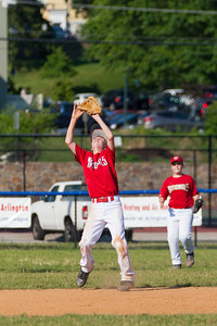 John getting ready to catch a pop-up at short stop in the bottom of the 1st inning. The Nationals played a close game against the Orioles before pulling away in the top of the 6th inning for a 5-2 win. They finished the regular season with a 12-6 record. 2012 Arlington Little League Baseball, Majors Division. Nationals vs Orioles (09 Jun 2012) (Image taken by Patrick R. Kane on 09 Jun 2012 with Canon EOS-1D Mark III at ISO 400, f4.0, 1/3200 sec and 180mm)