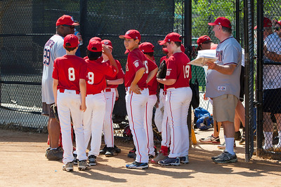 Pre-game pep talk. The Nationals struggled on both offense and defense in a 2-11 loss to the Orioles. They are now 7-4 for the season. 2012 Arlington Little League Baseball, Majors Division. Nationals vs Orioles (19 May 2012) (Image taken by Patrick R. Kane on 19 May 2012 with Canon EOS-1D Mark III at ISO 400, f8.0, 1/400 sec and 115mm)
