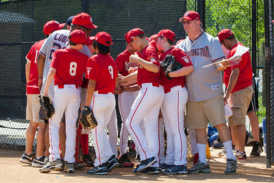 Pre-game pep talk. The Nationals struggled on both offense and defense in a 2-11 loss to the Orioles. They are now 7-4 for the season. 2012 Arlington Little League Baseball, Majors Division. Nationals vs Orioles (19 May 2012) (Image taken by Patrick R. Kane on 19 May 2012 with Canon EOS-1D Mark III at ISO 400, f8.0, 1/400 sec and 120mm)