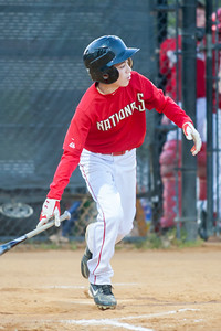 John hits an infield home run to put the Nats in the lead 2-0 in the bottom of the 1st inning. The Nationals won their second game in a row to start the season with an 11-0 victory over the Twins. 2012 Arlington Little League Baseball, Majors Division. Nationals vs Twins (19 Apr 2012) (Image taken by Patrick R. Kane on 19 Apr 2012 with Canon EOS-1D Mark III at ISO 1600, f2.8, 1/200 sec and 300mm)
