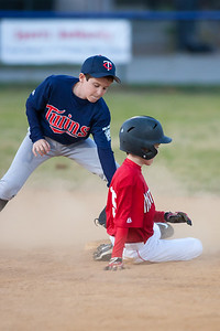 Mac safely sliding into 2nd base in the bottom of the 1st inning. The Nationals won their second game in a row to start the season with an 11-0 victory over the Twins. 2012 Arlington Little League Baseball, Majors Division. Nationals vs Twins (19 Apr 2012) (Image taken by Patrick R. Kane on 19 Apr 2012 with Canon EOS-1D Mark III at ISO 1600, f2.8, 1/500 sec and 300mm)
