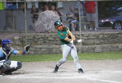 Dan Harshbarger makes contact in the fifth inning